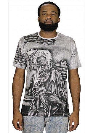 Camiseta Indiana Unissex Preto Velho