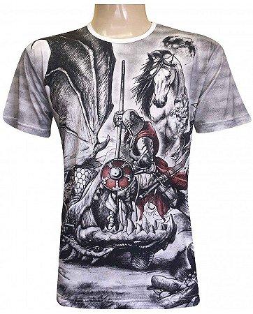 Camiseta Indiana Unissex São Jorge e Dragão