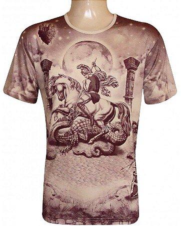 Camiseta Indiana Unissex São Jorge Medieval