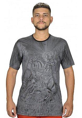 Camiseta Indiana Unissex São Jorge Cinza