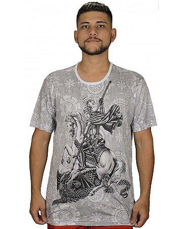 Camiseta Indiana Unissex São Jorge Oração