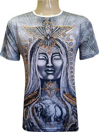 Camiseta Indiana Unissex Gaia Branca