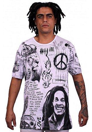 Camiseta Indiana Unissex Bob Marley I wanna love Branca