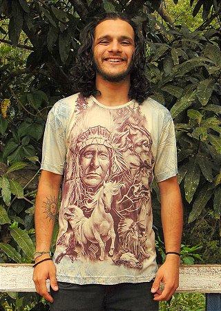 Camiseta Indiana Unissex Nativos