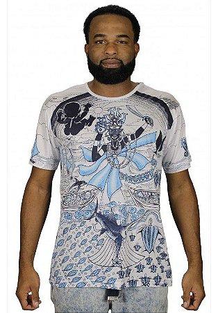 Camiseta Indiana Unissex Iemanjá Branca