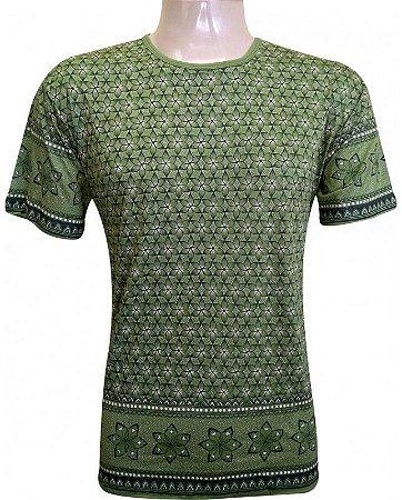 Camiseta Indiana Unissex Violeta Verde