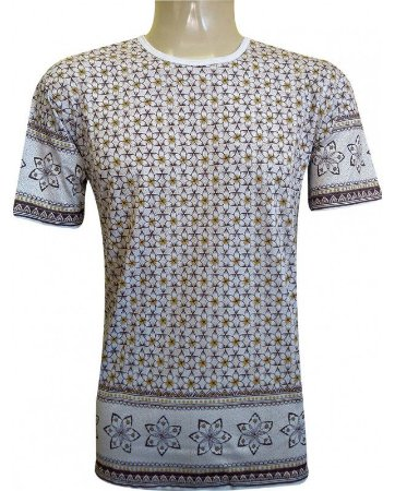 Camiseta Indiana Unissex Violeta Branca
