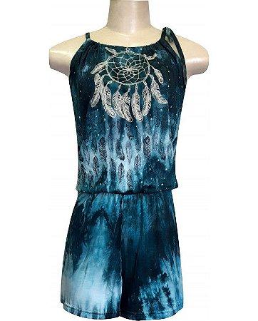 Macaquinho Tie Dye Filtro dos Sonhos Azul