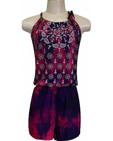 Macaquinho Tie Dye Shanti Pink