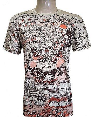 Camiseta Indiana Unissex Ebeji Areia