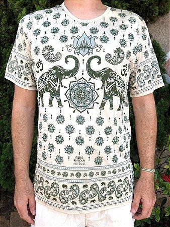 Camiseta Indiana Unissex Elefantes Natural