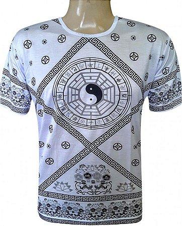 Camiseta Indiana Masculina Tao Yin-Yang Branca