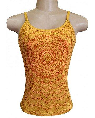 Regata Indiana Verão Feminina Amarela