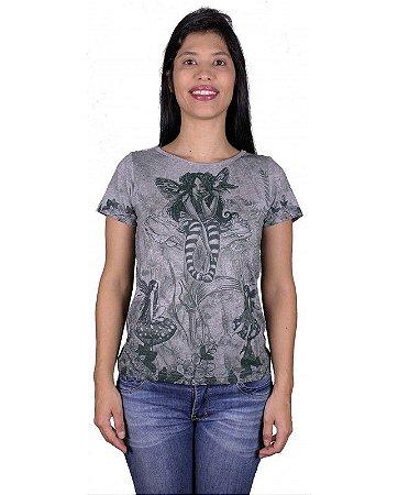 T-shirt Indiana Feminina Fada Cinza