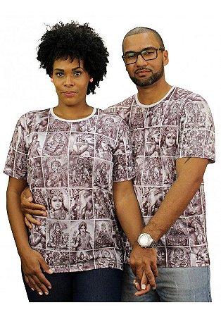 Camiseta Indiana Unissex Deuses Cartas Areia