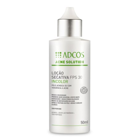 Acne Solution Loção Secativa Fps 30 Incolor Adcos 50ml