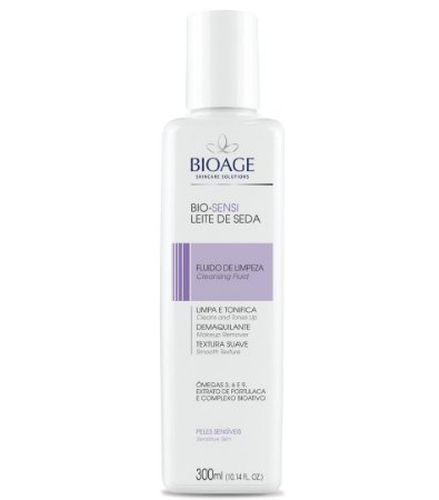 Bio-Sensi Leite de Seda Fluido de Limpeza e Demaquilante Bioage 300ml