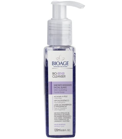 Bio Sensi Cleanser Sabonete Facial Hidratante Bioage 120ml