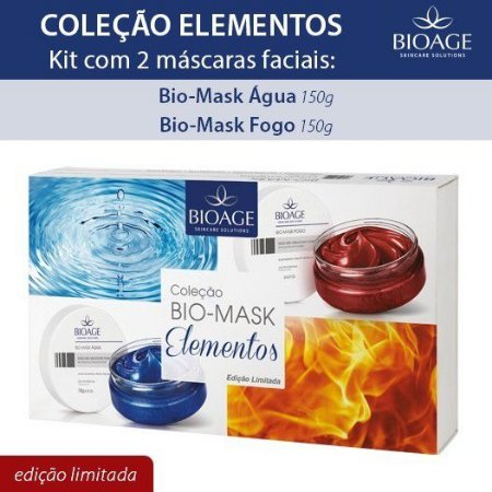 Kit Bio-Mask Elmentos (Bio-Mask Água + Fogo)
