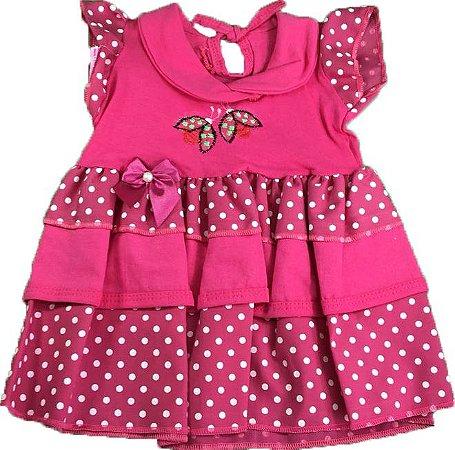 Vestido Borboleta - Rosa Choque - Até 4 Meses - Geração da Criança adf0a2cc3483