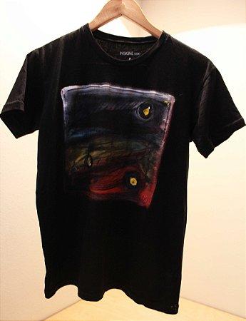 Camiseta Preta Unisex Fish by Roque Agnesini Pandini