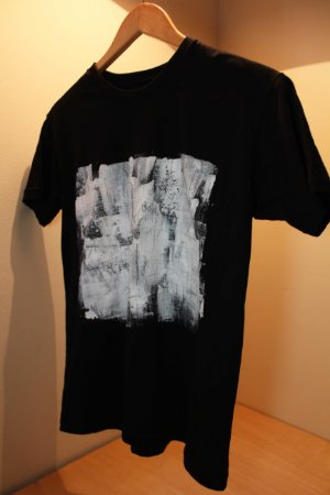 Camiseta Preta Unisex White Abstract II