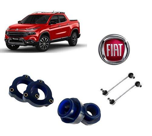 """KIT LIFT 1,5"""" DIANTEIRA E TRASEIRA - Fiat Toro   Todas versões"""