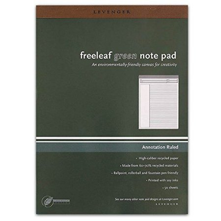 Bloco Levenger Freeleaf Green note pad A4 *
