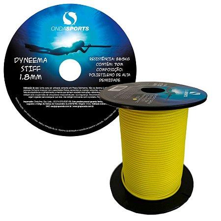 LINHA DYNEEMA STIFF 1,8mm (100% UHMWPE) Onda Sports (AMARELA)