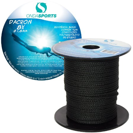 Linha Dacron (8 Cordas) 1,8mm Onda Sports (preta)
