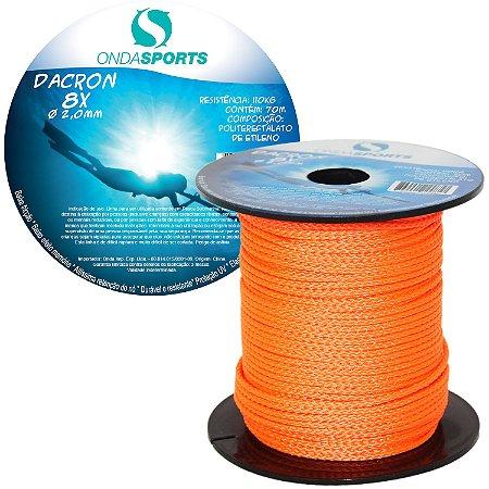 Linha Dacron (8 Cordas) 2,0mm Onda Sports (Laranja ACID)