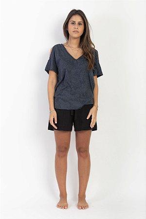 Camiseta Ombro Aberto Feminina