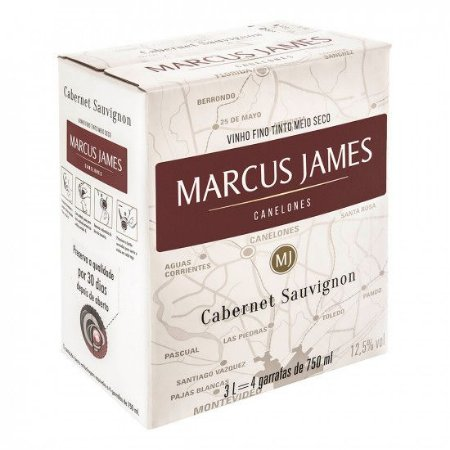Vinho Marcus James Cabernet Sauvignon Bag in box 3 litros