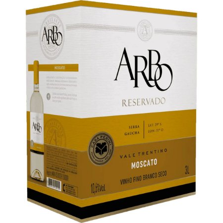 Vinho Arbo Moscato Bag in box 3 Litros