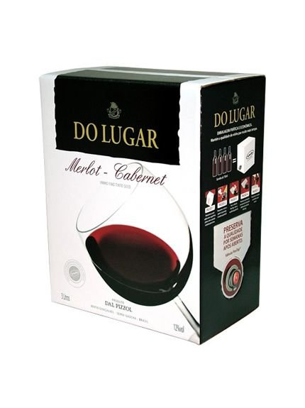 Vinho Do Lugar Merlot Cabernet Bag in Box 3 Litros