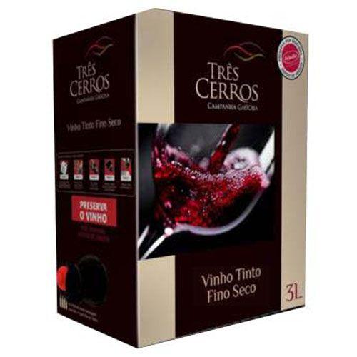 Vinho Três Cerros Tinto Seco Bag in Box 3 Litros