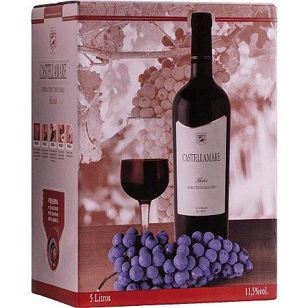 Vinho Castellamare Merlot Bag in box 5 Litros