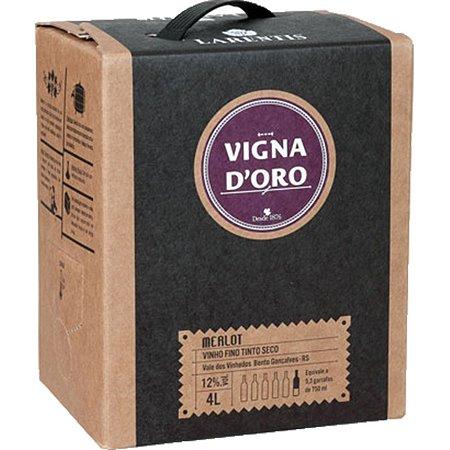 Vinho Larentis Vigna Doro Merlot Bag In Box 4 Litros