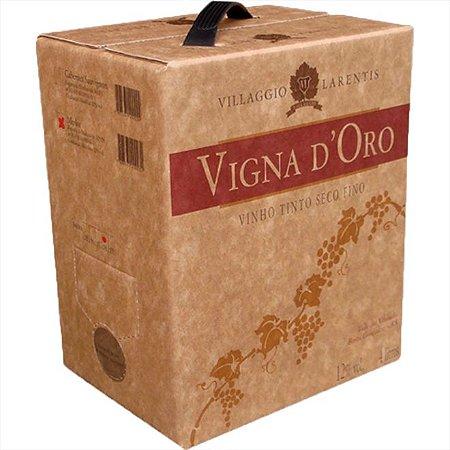 Vinho Vigna Doro Merlot Bag In Box 4 Litros