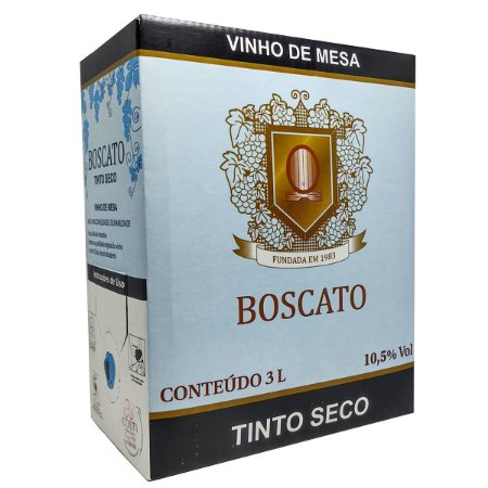 Vinho Boscato Tinto Seco Bag In Box 3 Litros