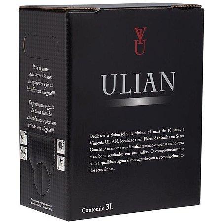 Vinho Ulian Merlot Bag In Box 3 Litros