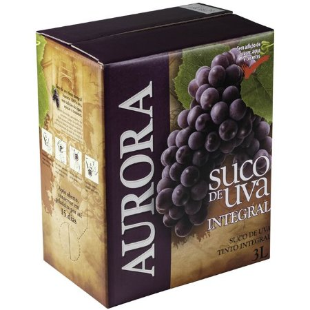 Suco de Uva Aurora Integral Bag in Box 3 Litros