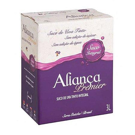Suco de Uva Aliança Premier Bib 3 litros