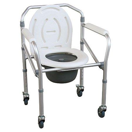 Cadeira Higienica Aluminio C/Rodizios- MONTSERRAT (JL696L)