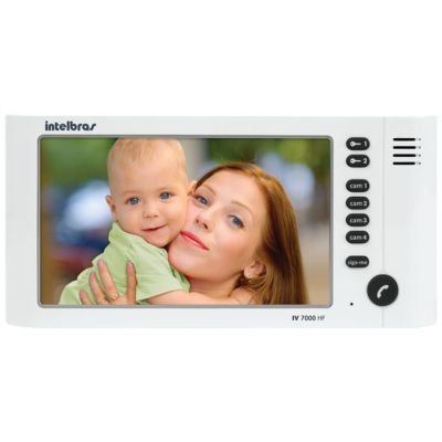 "VIDEO PORTEIRO IV 7010 BRANCO, C/ MONITOR LCD, Tela 7"" (Emb. contém 1un.) - INTELBRAS"