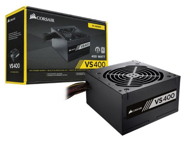 FONTE ATX 400W REAIS CORSAIR VS400 CP-9020117-LA 80PLUS WHITE
