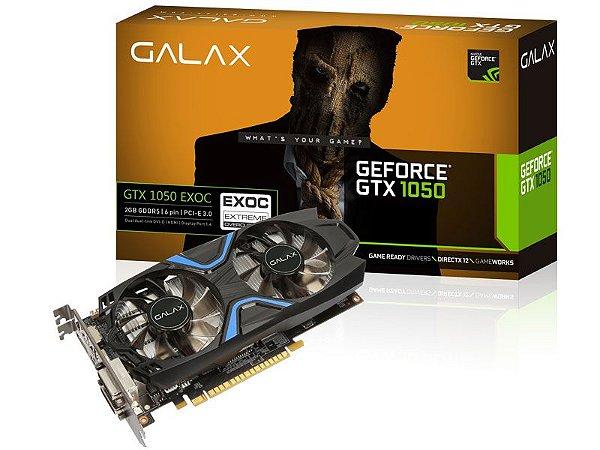 PLACA DE VIDEO GTX 1050 EXOC 2GB DDR5 128BIT 7008MHZ 1417MHZ 640 CUDA CORES DVI HDMI DP