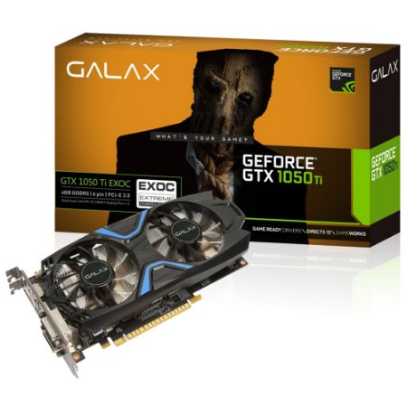 PLACA DE VIDEO 4GB DDR5 PCI-E GTX1050 TI EXOC 128 BITS GALAX 50IQH8DVN6EC