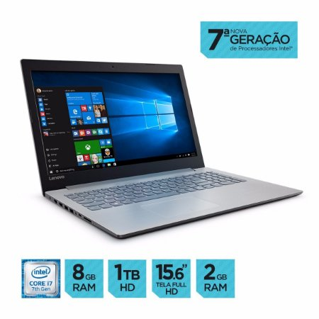 NOTEBOOK LENOVO IDEAPAD 320-15IKB CORE i5 7200U 8GB HD 1TB WIN10 GEFORCE 940MX 2GB TELA 15.6 80YH0001BR