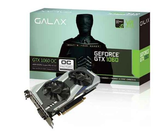 PLACA DE VIDEO GALAX GEFORCE GTX 1060 OC 6GB 60NRH7DSL9OC